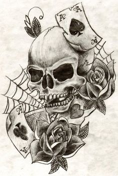 Skull tattoo by MiniBellini on DeviantArt
