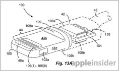 A trio of Apple patent applications filed with the U. Patent and Trademark Office on Thursday reveals the intricacies of the company's latest input/output protocol for iOS devices: the Lightning connector. Patent Filing, New Product, Lightning, Cable, Diagram, Yahoo, Hacks, Culture, Electronics