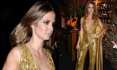 Millie Mackintosh is a golden girl in plunging sequinned catsuit