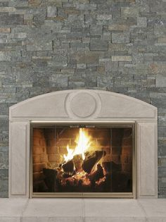 Walnut Tailored Ledgestone with Texas Cream Cut Stone Surround ...