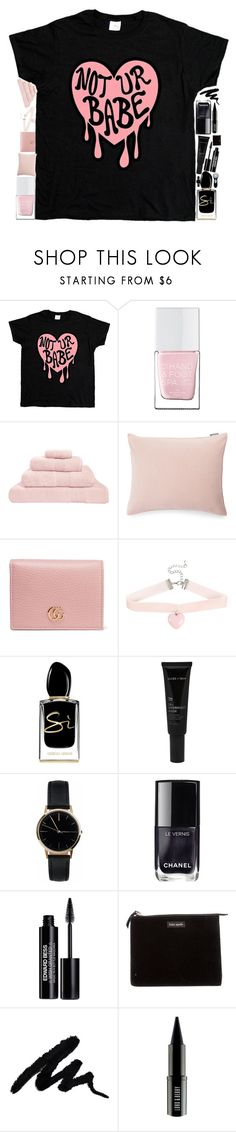 """Not your but my 💗"" by nolitude ❤ liked on Polyvore featuring The Hand & Foot Spa, Hamam, Lexington, Gucci, Giorgio Armani, Allies of Skin, Freedom To Exist, Chanel, Edward Bess and Kate Spade"