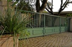 Green Fence, Metal Fence  Gates and Fencing  Brian Maloney Design  Concord, MA