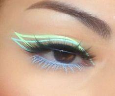 Indie Makeup, Edgy Makeup, Makeup Eye Looks, Eye Makeup Art, Crazy Makeup, Pretty Makeup, Skin Makeup, Eyeshadow Makeup, Makeup Inspo