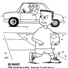 Don't help strangers! Stranger danger coloring pages #4