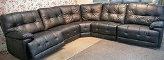 BLACK LEATHER 5 PIECE CORNER (69 R) £1399 in Home, Furniture & DIY, Furniture, Sofas, Armchairs & Suites | eBay