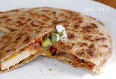 Healthy chicken quesadilla