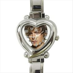 Zac Efron Quality Heart Italian Charm Watch. http://stores.shop.ebay.co.uk/giftpick