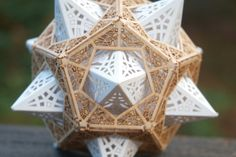 """Architect and designer Thomas Houha tells us that the technical term for his ingenious Star Orb is a """"stellated dodecahedron inside a dodecahedron."""" That sounds"""