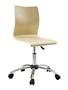 Natural Wood Task Office Chair   Modern Furniture • Brickell Collection