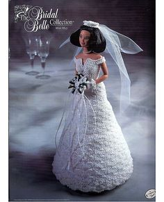 The Bridal Belle Collection Miss May Fashion Doll  Crochet Pattern  Annies Attic via Etsy