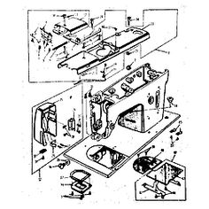 KENMORE Kenmore sewing machine head Base assembly Parts --- Schematics for my new old sewing machine.