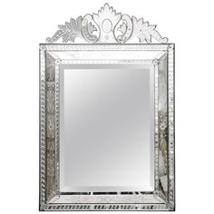 Early 20th Century Venetian Mirror | From a unique collection of antique and modern wall mirrors at https://www.1stdibs.com/furniture/mirrors/wall-mirrors/