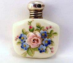 1945 perfume bottle with sterling silver top