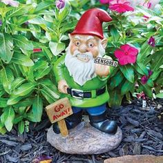The perfect way to tell unwanted guests to go away, or maybe you just want to abuse people passing by with the Big Mouth Toys Go Away Garden Gnome.