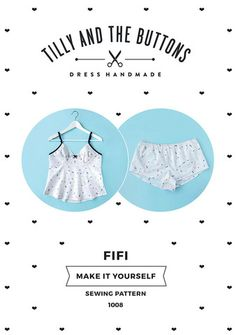 Women's Cami & Pajama Shorts Sewing Pattern - Fifi by Tilly and the Buttons