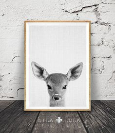 Printable Kids Gift, Deer Print, Fawn Baby Deer, Printable Kids Wall Art Woodlands Decor, Nursery Printable, Printable Art, Instant Download