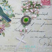 Vihreä ruusu rukousnauha 40€ #rukousnauha #rosario #usko #rakkaus #risti #kristinusko #helmipaikka