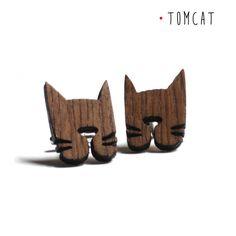 Gemelli per amanti dei gatti con testa di gatto di DARQDESIGN