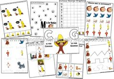 Curious George FREE Printables