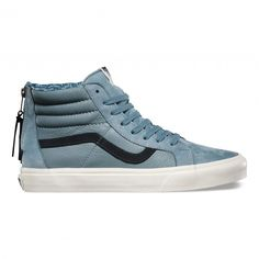 Vans Sk8-Hi Zip CA Schuhe (Leather/Nubuck) Lead - Vans Deutschland Offizielle Online Shop