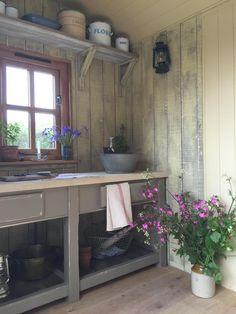 The garden kitchen in the Plankbridge hut at The RHS Chelsea Flower Show 2015