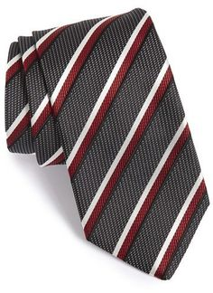$115, BOSS Stripe Silk Tie. Sold by Nordstrom. Click for more info: https://lookastic.com/men/shop_items/385285/redirect