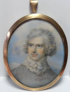 FINELY PAINTED 19thC PORTRAIT MINIATURE OF A GENTLEMAN CIRCLE OF RICHARD COSWAY
