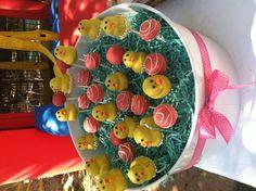 Rubber ducky cake pops
