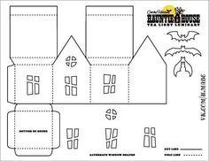 Christmas Paper, Christmas Home, Halloween House, Halloween Crafts, Halloween Games, Hallowen Ideas, House Template, Putz Houses, Haunted Houses