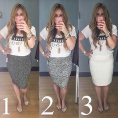 Dressing Room Dilemma, Marshalls, pencil skirt
