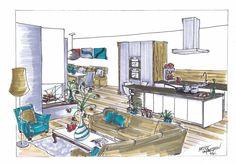 Interieur van een woning in Rhoon. Nieuwbouwwoning dus een kijkje vooraf