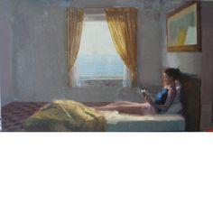 Alejandra CABALLERO La lectora Artist Painting, Contemporary Artists, Still Life, Image, Future, Knights, Window, Future Tense