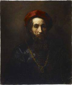 """Portrait of a Rabbi"" attributed to Rembrandt Harmensz van Rijn (1657)"