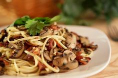 """Mushroom-Bacon Pasta: """"Make it as a main dish, serve it as a side, easily doubles!"""" -Lennie"""