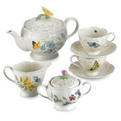 #ilovelenox -- Lenox Butterfly Meadow® 9-Piece Tea Set