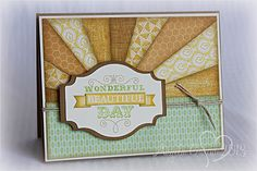 card by Angela Garcia using 4 packs of CTMH paper.... Buzz and Bumble, Chantilly, Surf's Up, and Tommy.... great way to use scraps, too!