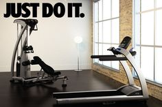 JUST DO IT Wall Decor Vinyl Decal Gym Workout by JandiCoGraphix, $17.00