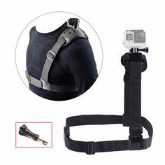 Accessories Chest Shoulder Mount Strap for Gopro Hero 5 4 SJCAM SJ4000 Shoulder Belt Screw For Go pro SJ5000 Action Camera 10