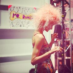 Betsey Johnson #SS14 #catwalk #FONYFW #fashion #backstage #runway #NYFW #model #makeup