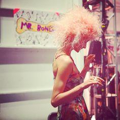 Betsey Johnson #SS14 #catwalk #FONYFW #fashion #backstage #runway #NYFW #model #makeup