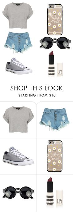 """Untitled #71"" by karenrodriguez-iv ❤ liked on Polyvore featuring Topshop, WithChic, Converse and Casetify"