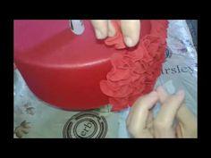 Como fazer efeito FRU FRU no bolo fake de Eva PAP - YouTube