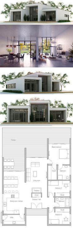 Modern Contemporary House Plan, Minimalist Home Design