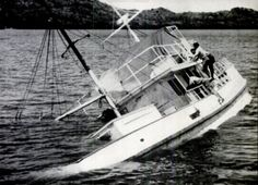 The MV Joyita shortly after it was found abandoned