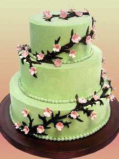 Love cherry blossom themed cakes