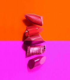 Orange and Purple Lipsticks