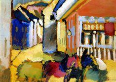 "Kandinsky's ""Murnau: Street with Horse-Drawn Carriage"" (1909)"