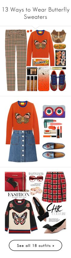 """13 Ways to Wear Butterfly Sweaters"" by polyvore-editorial ❤ liked on Polyvore featuring waystowear, butterflysweaters, Daks, Gucci, Etro, Accessorize, Helmut Lang, Casetify, Estée Lauder and Byredo"