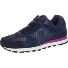 NIKE MD Runner Sneaker Damen, dunkelblau / pink