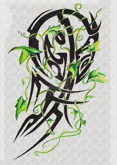 ivy tribal tattoo design by twistedbyro designs interfaces tattoo . Tribal Tattoo Designs, Tribal Tattoos, Ivy Tattoo, Celtic, Moose Art, Deviantart, Artist, Pattern, Tattoo Ideas